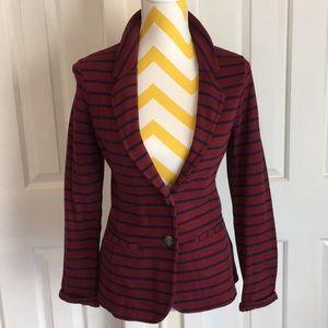 Merona striped knit blazer